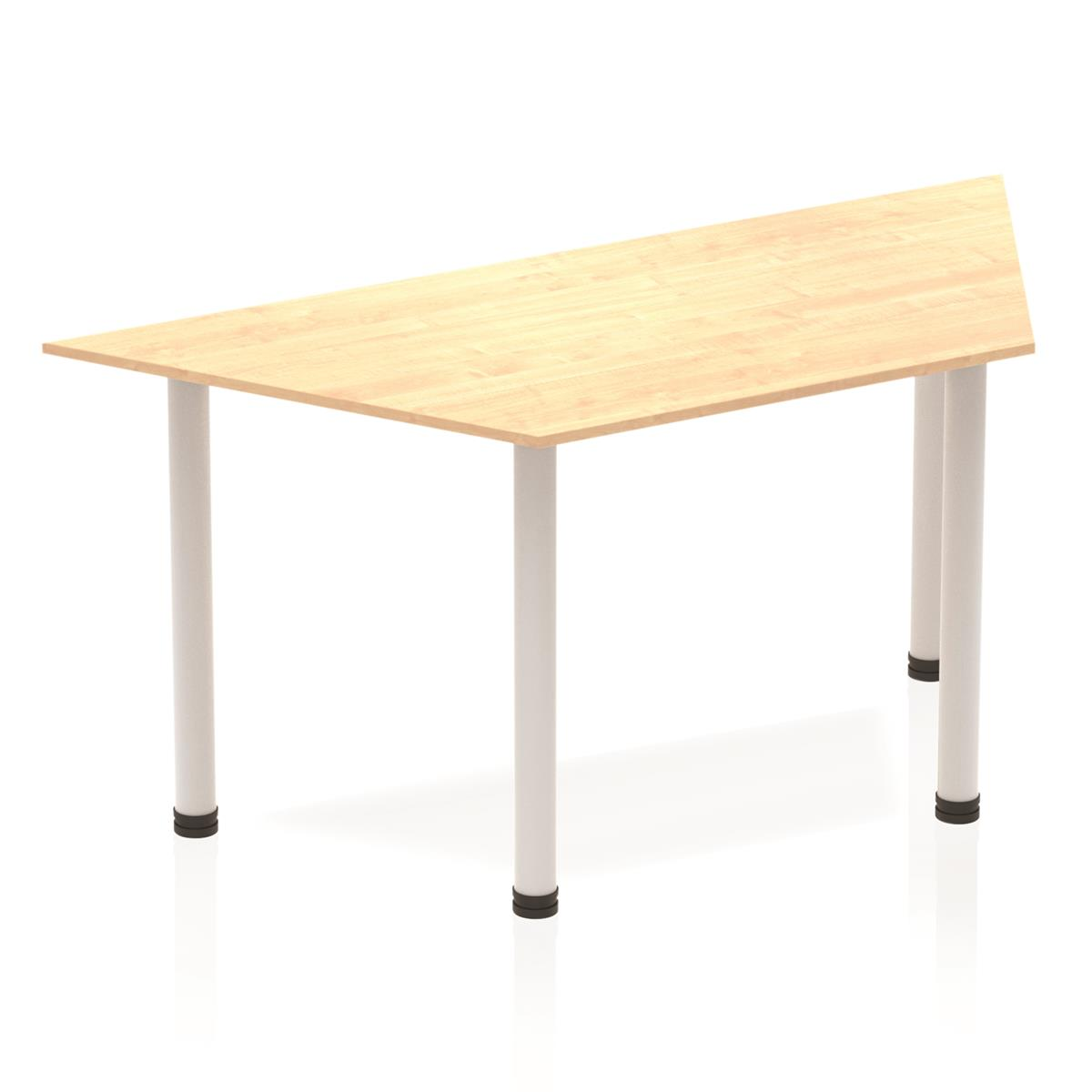 Image for Sonix Trapezium Table Post Leg 1600mm Maple