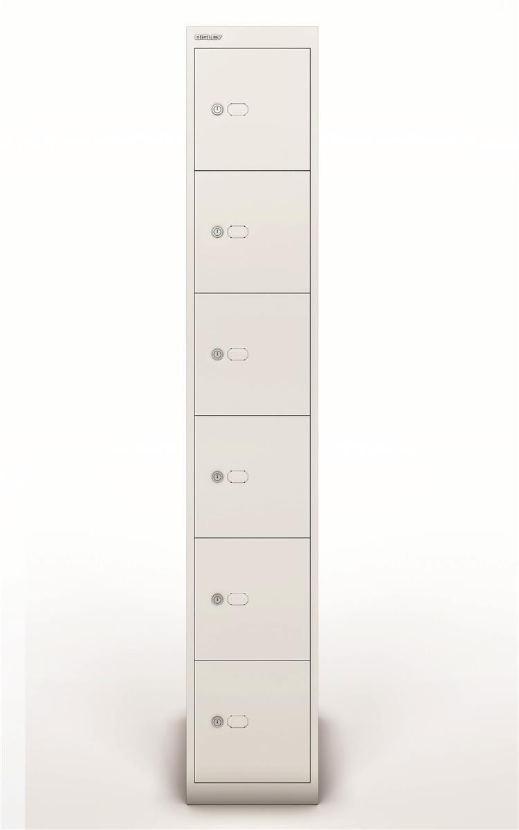 Image for Bisley Steel Locker 457 Six Door Chalk White