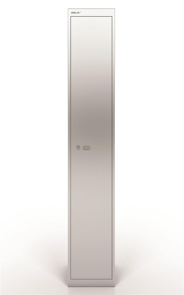 Image for Bisley Steel Locker 305 One Door Silver