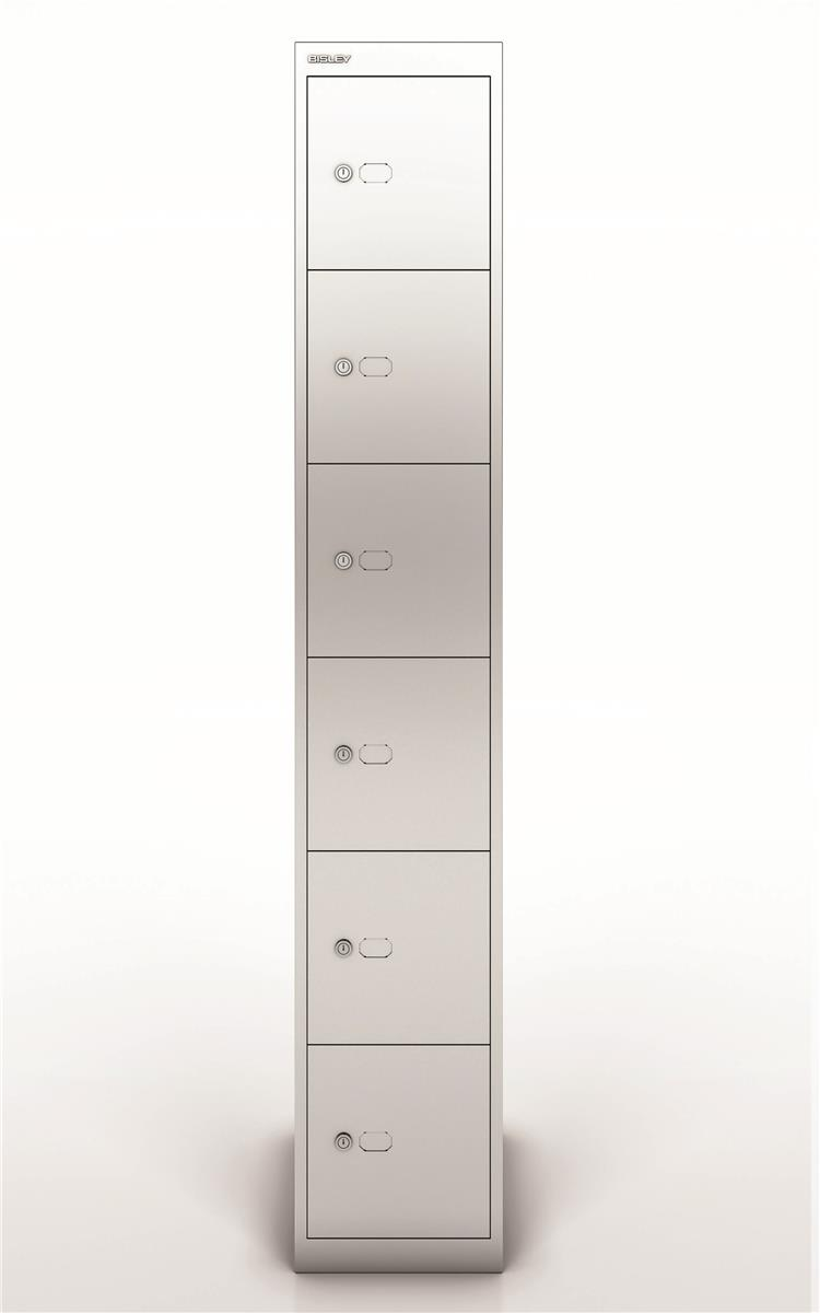 Image for Bisley Steel Locker 457 Six Door Silver
