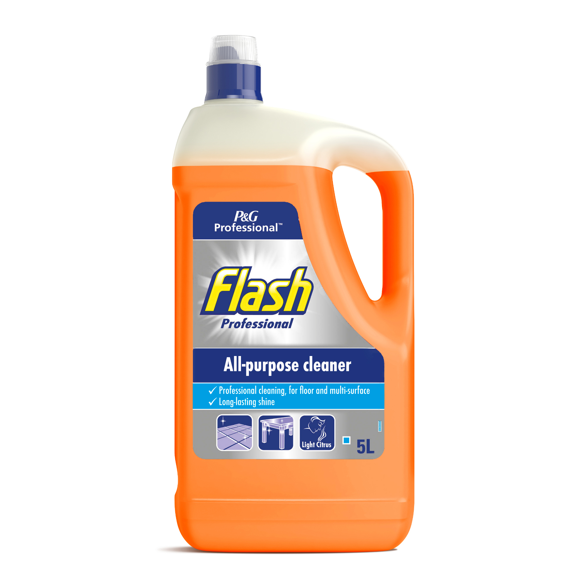 Cleaning Chemicals Flash Prof All Purpose Cleaner for Washable Surfaces 5 Litre Citrus Fragrance Ref C001978