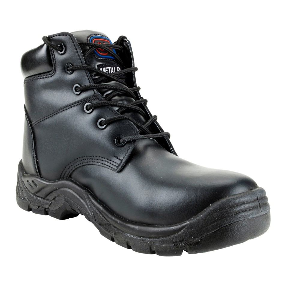 ST Toe Lite Boot Leather Comp' Midsole Safety Toecap Metal Free sze 7 Blk Ref 90172 *Approx 3 Day L/Time*