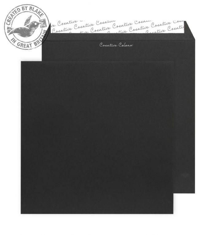 Creative Colour Jet Black Peel and Seal Wallet160x160mm Ref 614 [Pack 500] *3 to 5 Day Leadtime*