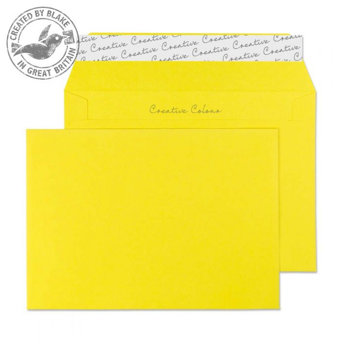 Creative Colour Banana Yellow P&S Wallet C6 114x162mm Ref 103 [Pack 500] *3 to 5 Day Leadtime*
