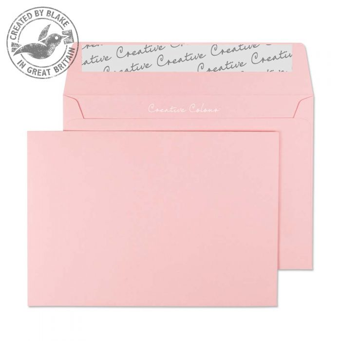 Creative Colour Baby Pink Peel and Seal Wallet C6 114x162mm Ref 101 [Pack 500] *3 to 5 Day Leadtime*