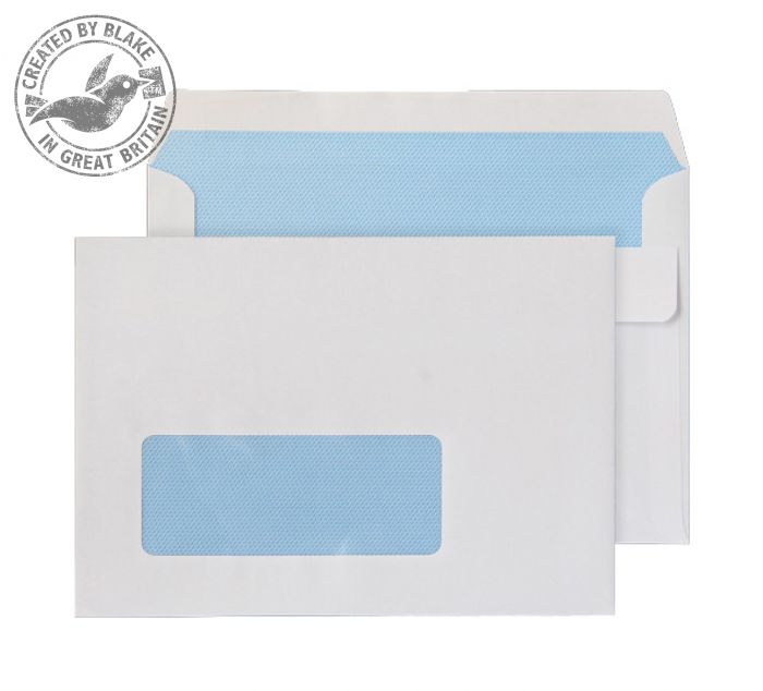 Purely Everyday Wallet Self Seal Window White 90gsm C6 114x162 Ref 2603W Pk 1000 *3 to 5 Day Leadtime*