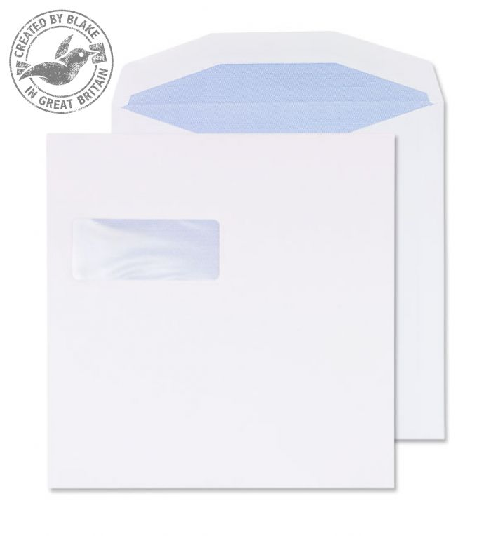 Purely Everyday Wallet Self Seal High Window White 100gsm 220x220 Ref 5702 Pk 250 *3 to 5 Day Leadtime*