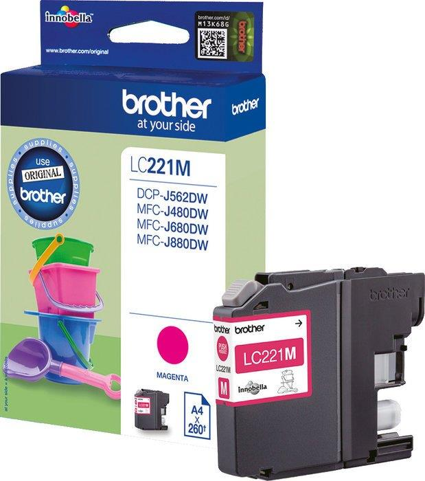 Brother LC221M Inkjet Cartridge Magenta Ref LC221M