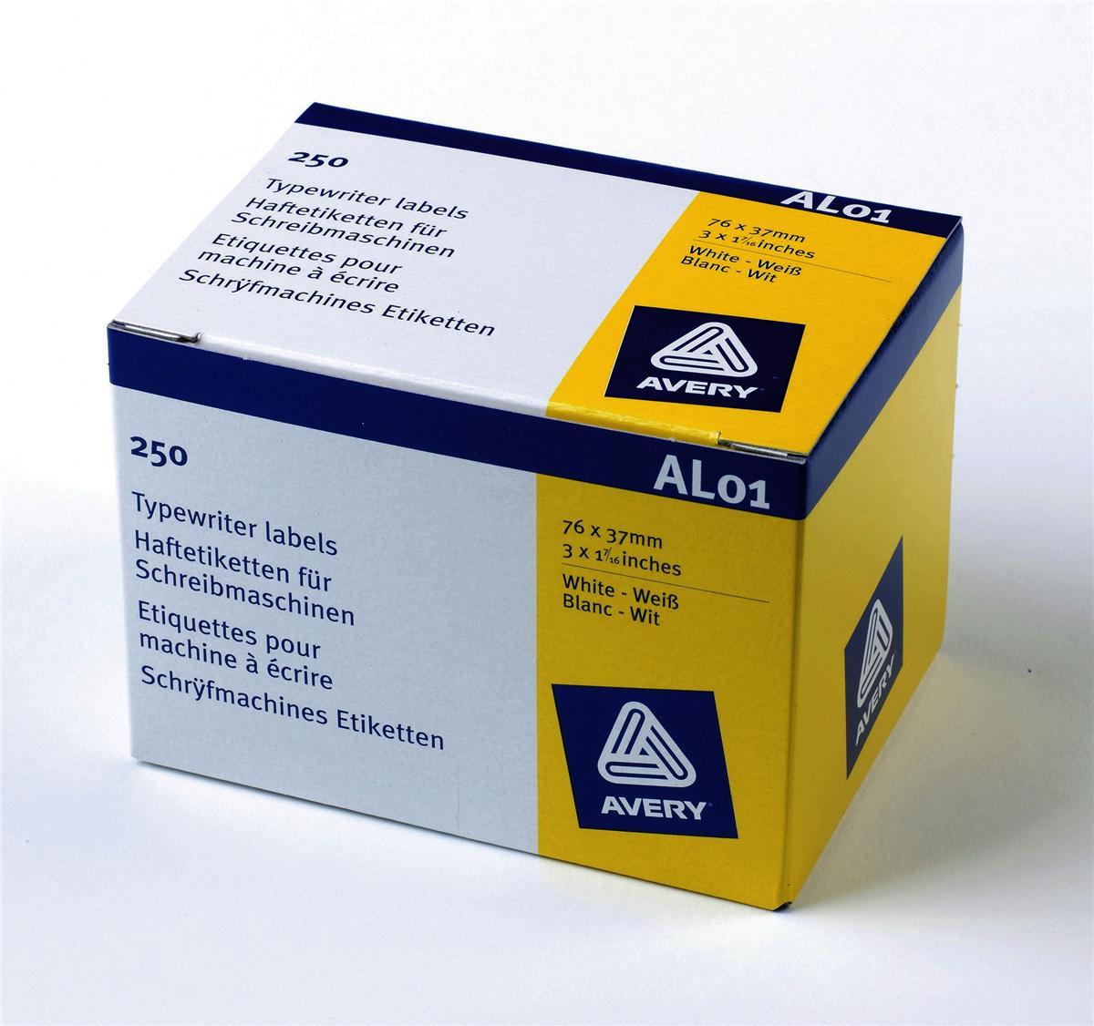 Avery Address Labels Roll 76x37mm Ref AL01 [250 Labels]