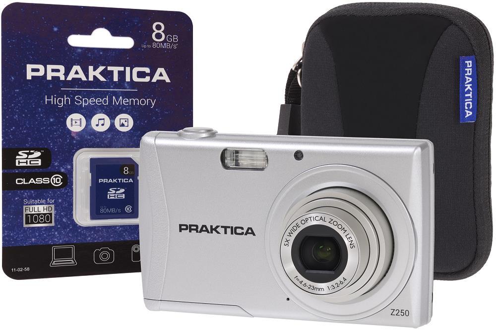 Praktica Z250 Digital Camera Kit Silver Ref PRA110