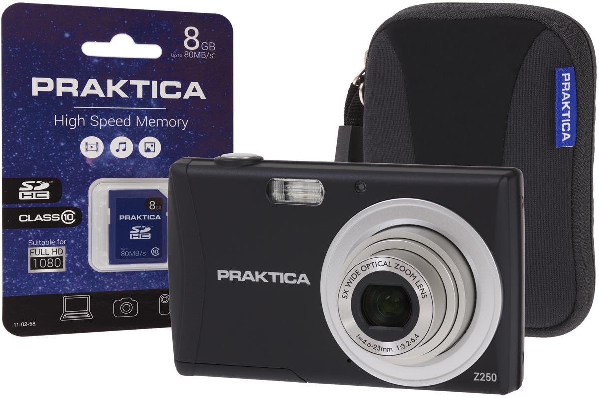 Praktica Z250 Digital Camera Kit Black Ref PRA111