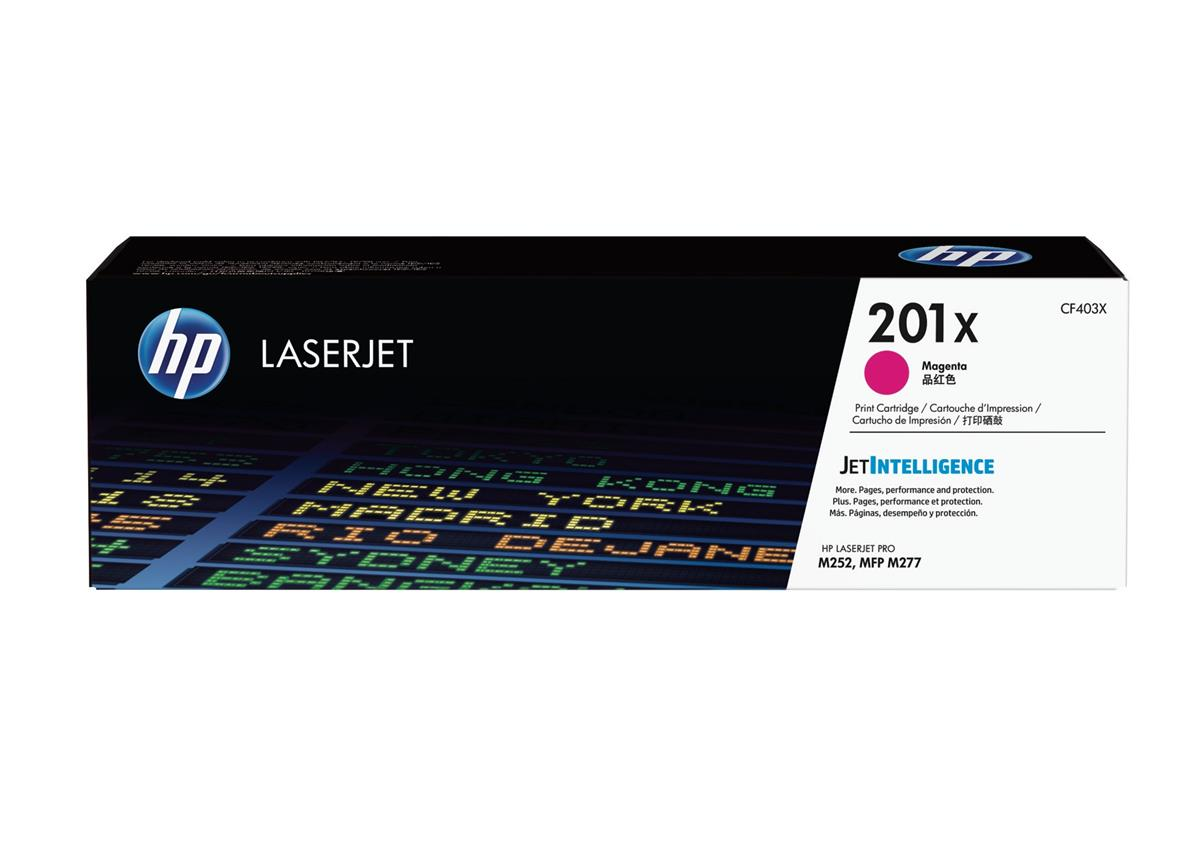 Hewlett Packard [HP] 201X Laserjet Toner Cartridge Magenta High Yield Ref CF403X