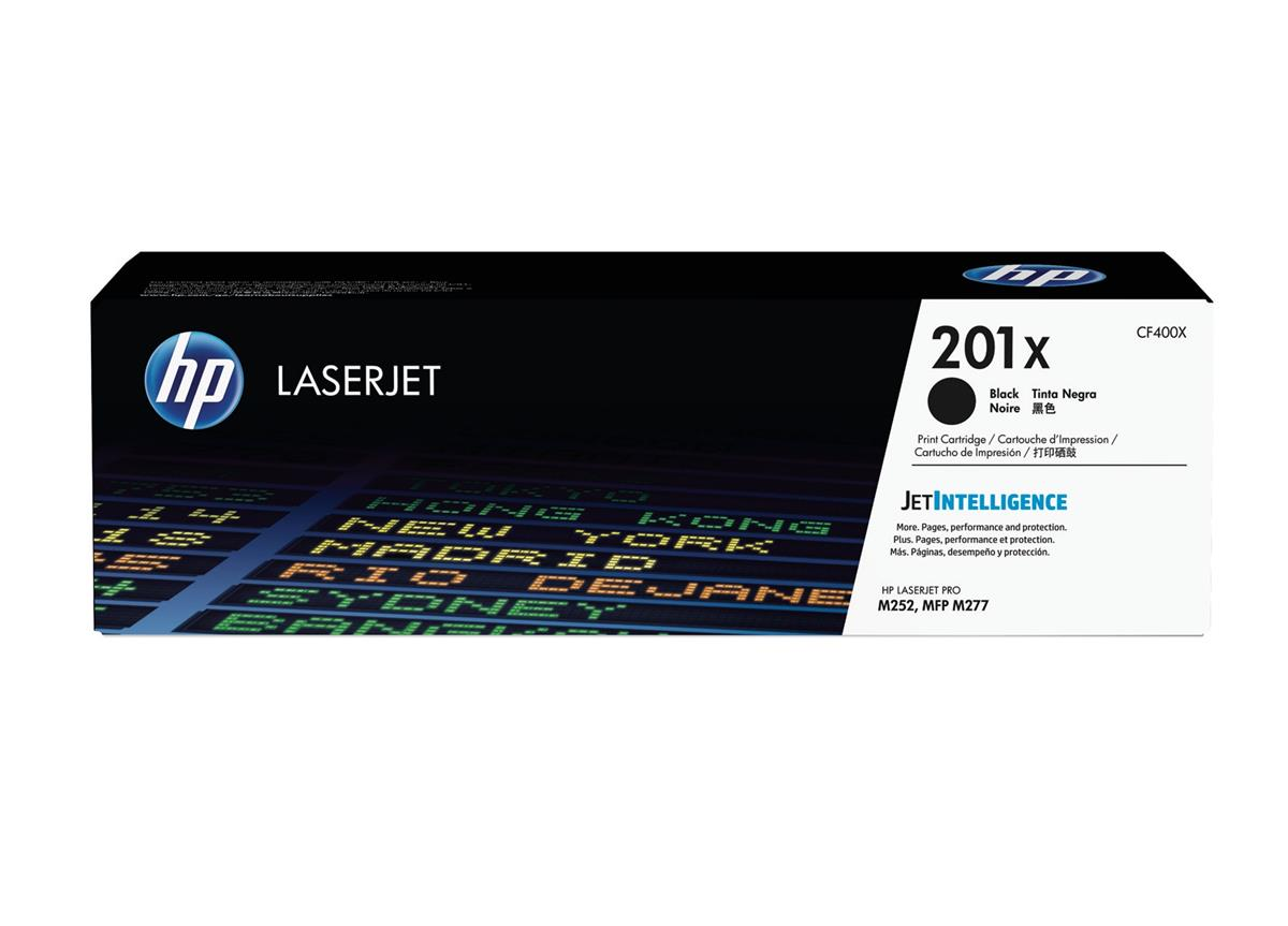 Hewlett Packard [HP] 201X Laserjet Toner Cartridge Black High Yield Ref CF400X