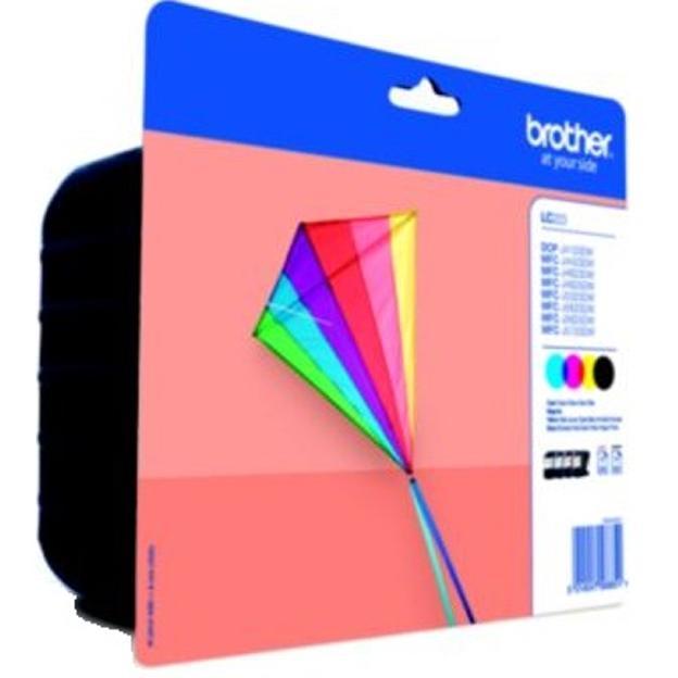 Brother Inkjet Cartridge Page Life 550pp C/M/Y/K Ref LC223VALBP [Pack 4]