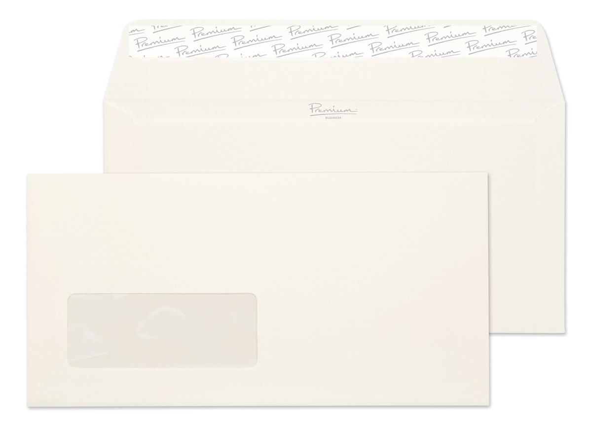 Blake Premium Envelope Wallet Window Peel & Seal 120gsm High White DL [Pack 500] Ref 39884