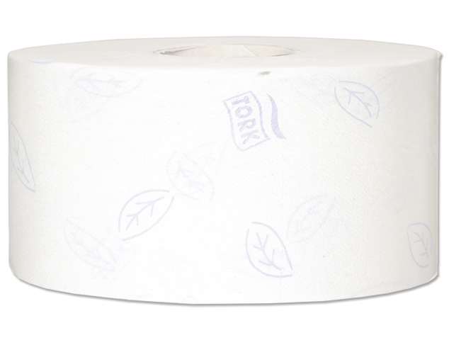 Tork Premium Mini Jumbo Toilet Roll 2-ply Embossed White Ref 110254 [Pack 12]