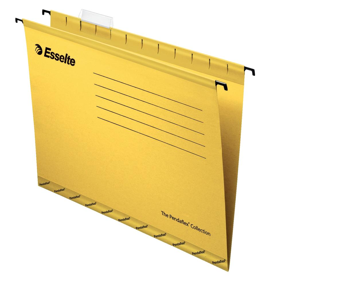 Image for Esselte Classic Suspension File Reinforced Foolscap File Yellow Ref 90335 [Pack 25]