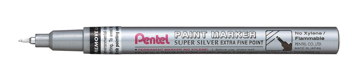 Image for Pentel Paint Marker Metallic Extra Fine Point Silver Ref MFP10-Z [Pack 12]