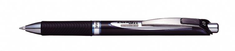 Image for Pentel EnerGel Xm Rollerball Permanent 0.7mm Retractable Blue Ref BLP77-CX [Pack 12]