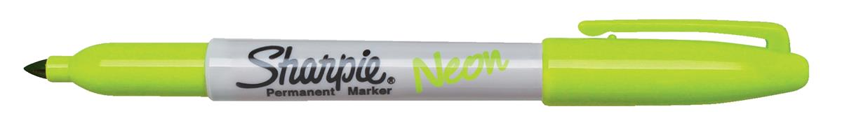 Image for Sharpie NEON Permanent Marker Green Ref 1888994-1 [Pack 12]