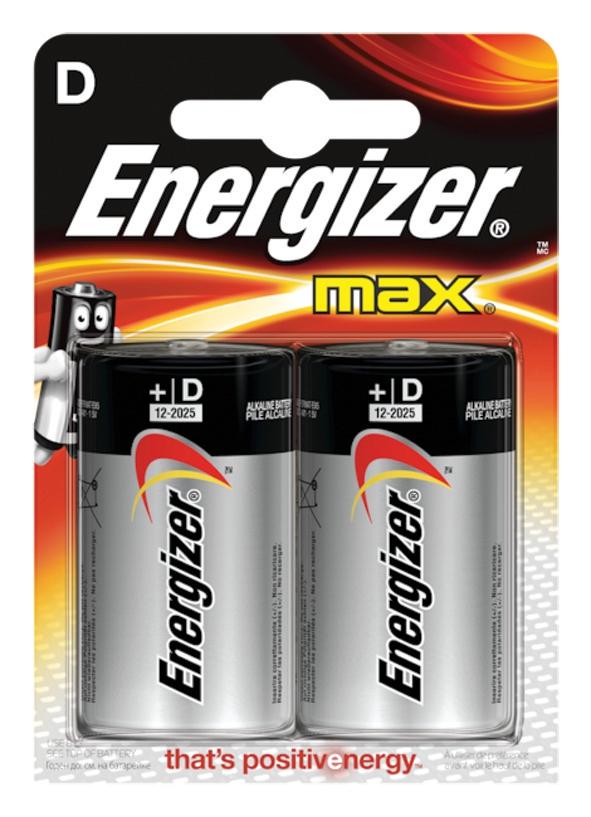 Energizer Max D/E95 Batteries Ref E300129200 [Pack 2]