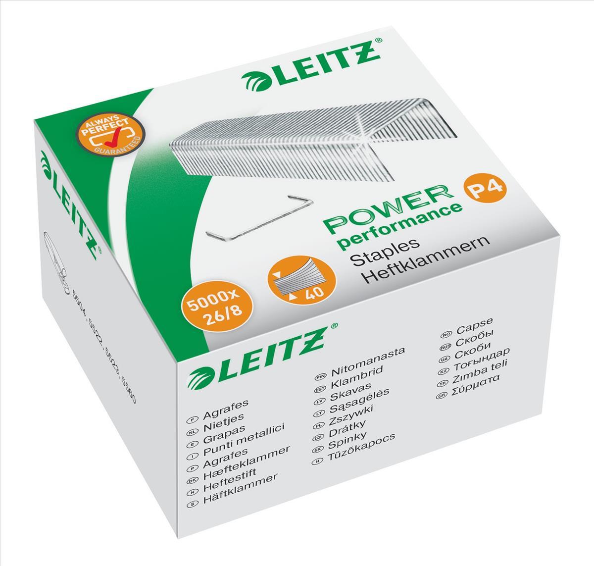 Leitz Staples P4 26/8mm Ref 55590000 [Pack 5000]
