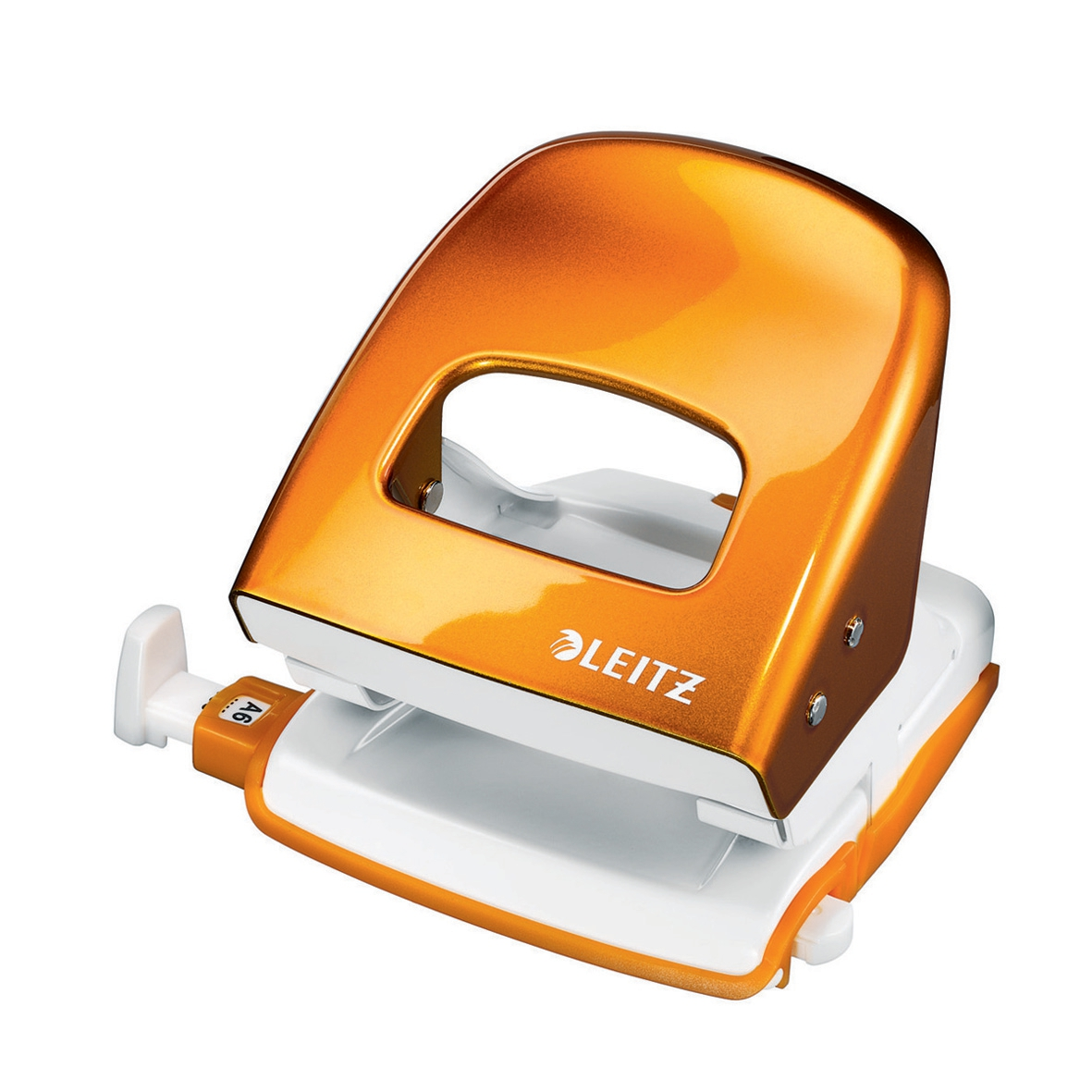 Leitz NeXXt WOW Hole Punch 3mm 30 Sheet Orange Ref 50081044L