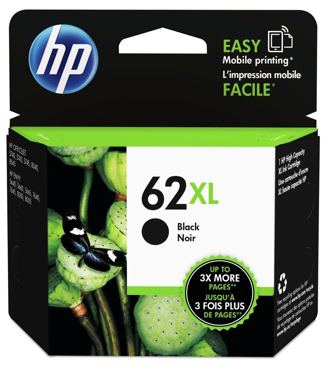 Hewlett Packard [HP] No. 62XL Inkjet Cartridge Black Ref C2P05AE