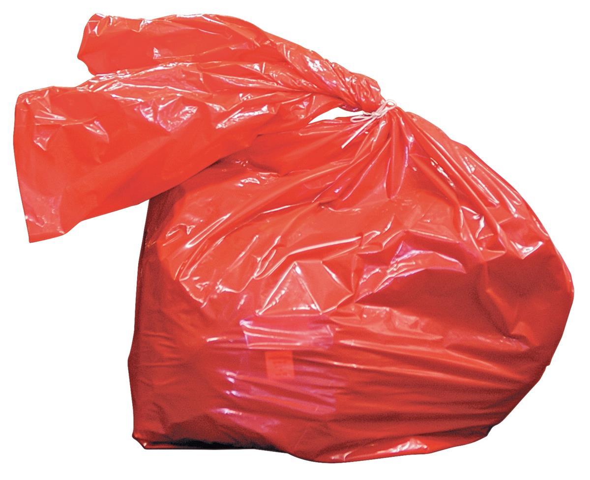 Laundry Bags Medium Duty Dissolving Strips 80 Litre Red [Pack 200]
