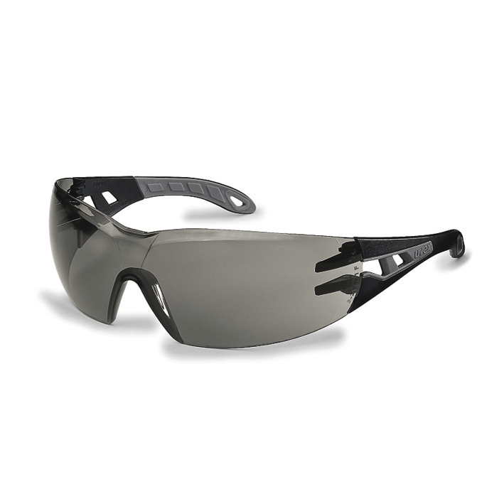 Uvex Pheos Safety Spectacles Sport Style Wrap Smoke Ref 256434