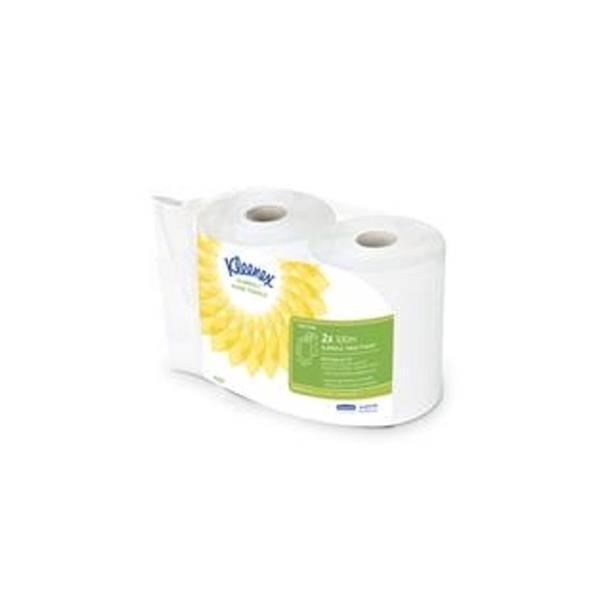 Kleenex Hand Towels Slimroll Twinpack 2 Rolls per Pack White Ref 6767 [Pack 3]