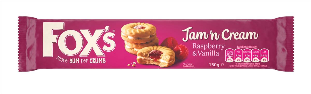 Fox's Biscuits Jam and Cream Rings Real Raspberry Ref A07891