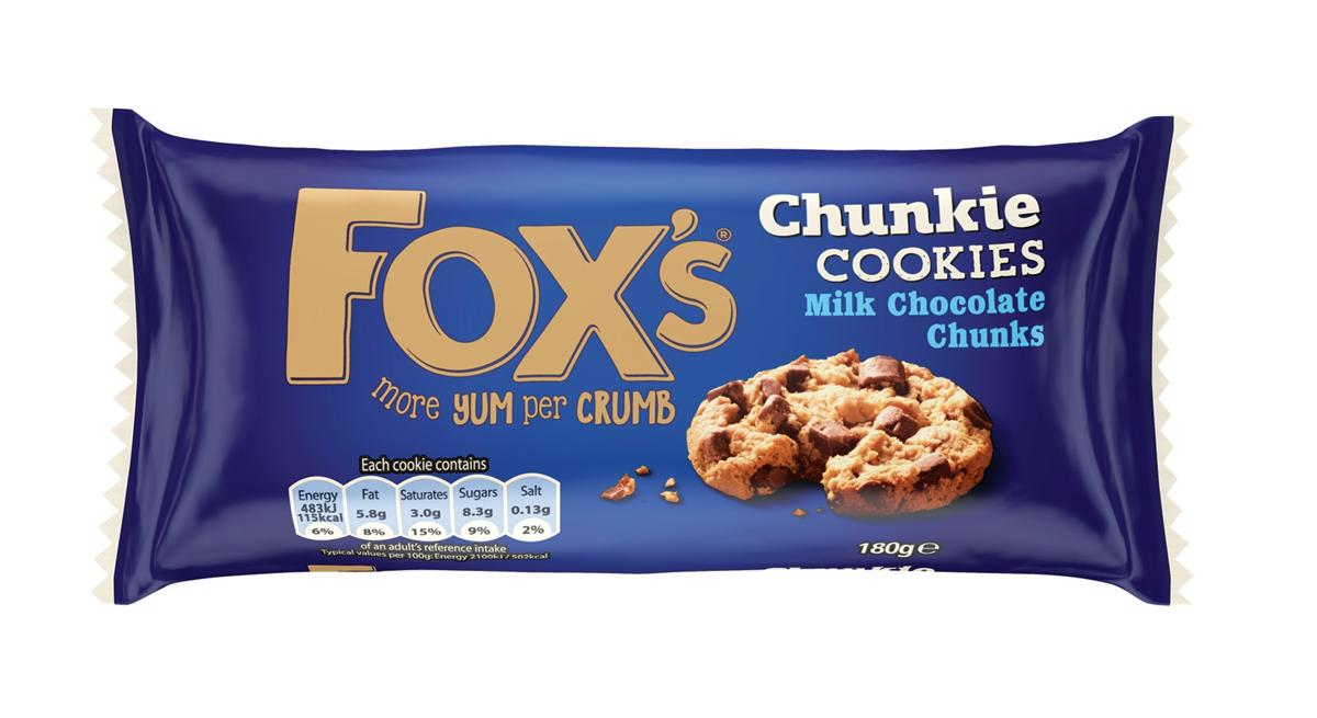 Fox's Biscuits Milk Chocolate Chunk Cookies Extra Deep Cookie Dough Ref A07887