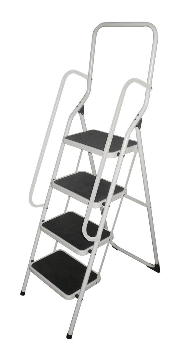 Metal Stool with Handrail 4 Step