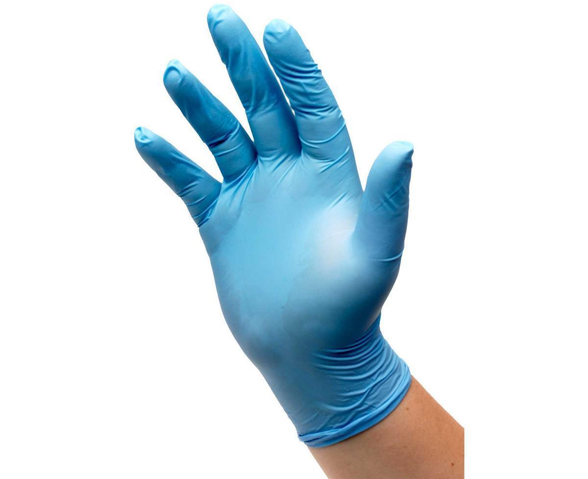 Nitrile Powdered Gloves Medium Blue [50 Pairs]