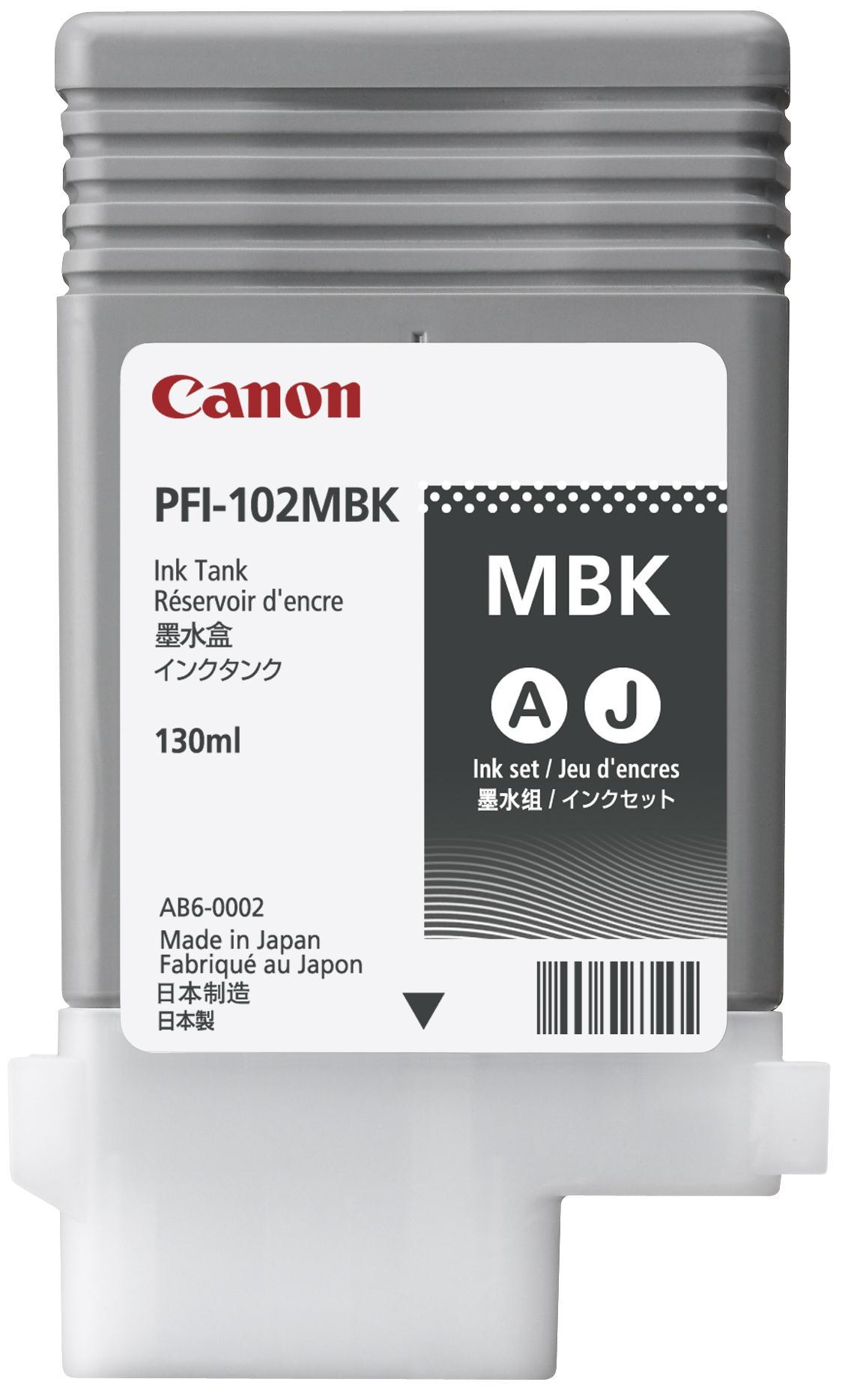 Canon PFI-102MBK Ink Tank Matt Black Ref 0894B001AA