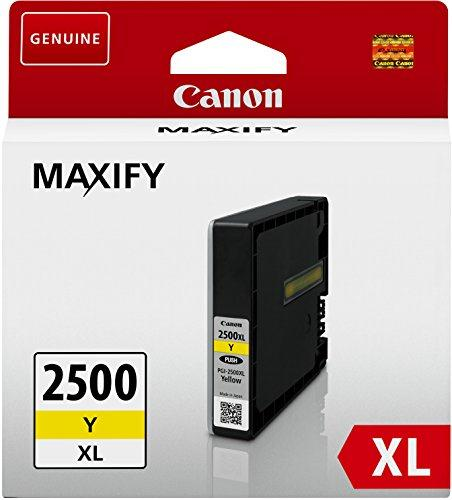 Canon PGI-2500XLY Inkjet Cartridge High Yield 19.3ml Page Life 1520pp Yellow Ref 9267B001AA