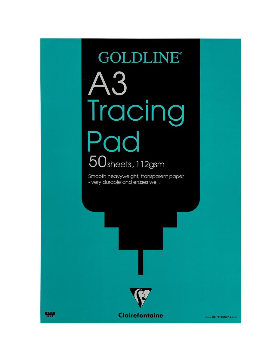 Goldline Heavyweight Tracing Pad 112gsm 50 Sheets A3 Ref GPT3A3Z [Pack 5]