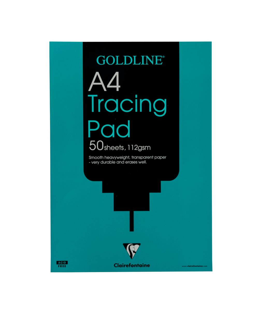 Goldline Heavyweight Tracing Pad 112gsm 50 Sheets A4 Ref GPT3A4Z [Pack 5]