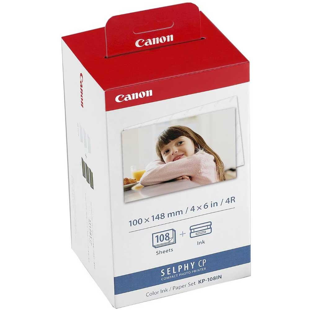 Canon KP-108IN Inkjet Cartridge Colour Multipack and Photo Paper Ref 3115B001AA