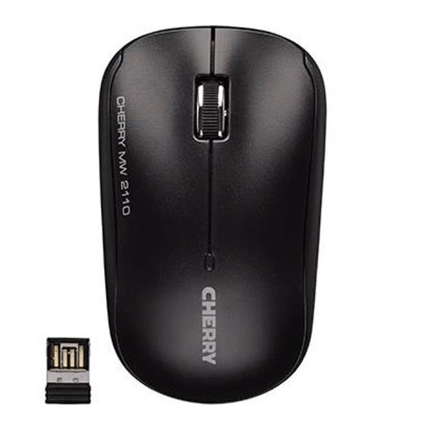 Cherry MW 2110 Three-Button Wireless Mouse 2.4GHz Optical Range 10m Black Ref JW-T0210