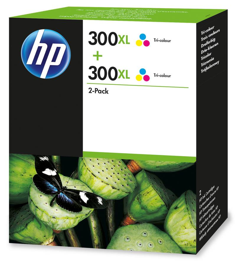 Hewlett Packard [HP] No. 300XL Inkjet Cartridge High Yield Page Life 440pp Tricolour Ref D8J44AE [Pack 2]