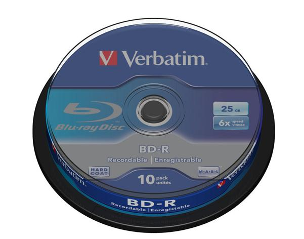 Image for Verbatim BD-R Blu Ray Recordable Disk Spindle 6x Speed 25Gb Ref 43742 [Pack 10]