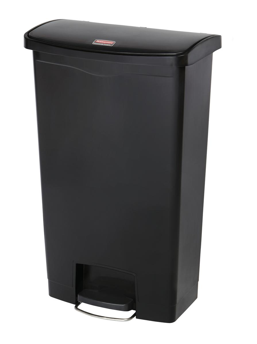 Rubbermaid Slim Step Bin 68 Litre Black Ref 1883613