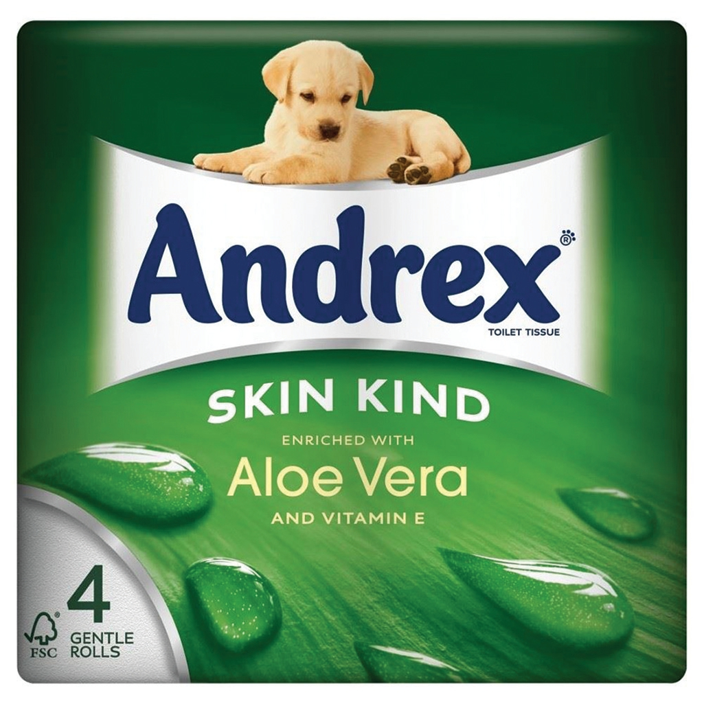 Image for Andrex Toilet Rolls 2-Ply 240 Sheets Aloe Vera Ref M02073 [Pack 4]