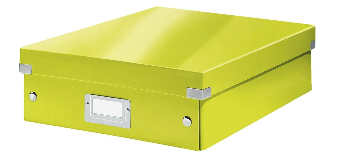 Image for Leitz WOW Click and Store Organiser Box Medium Green Ref 60580064