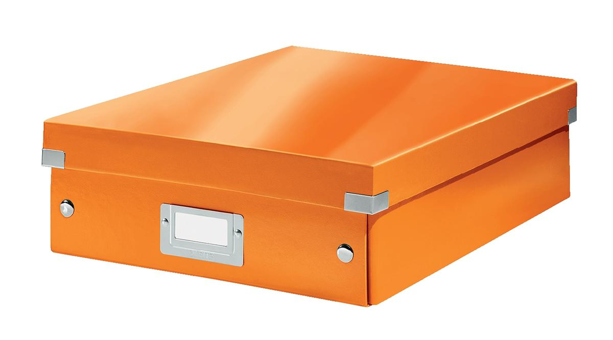 Image for Leitz WOW Click and Store Organiser Box Medium Orange Ref 60580044