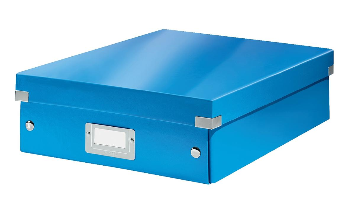 Image for Leitz WOW Click and Store Organiser Box Medium Blue Ref 60580036