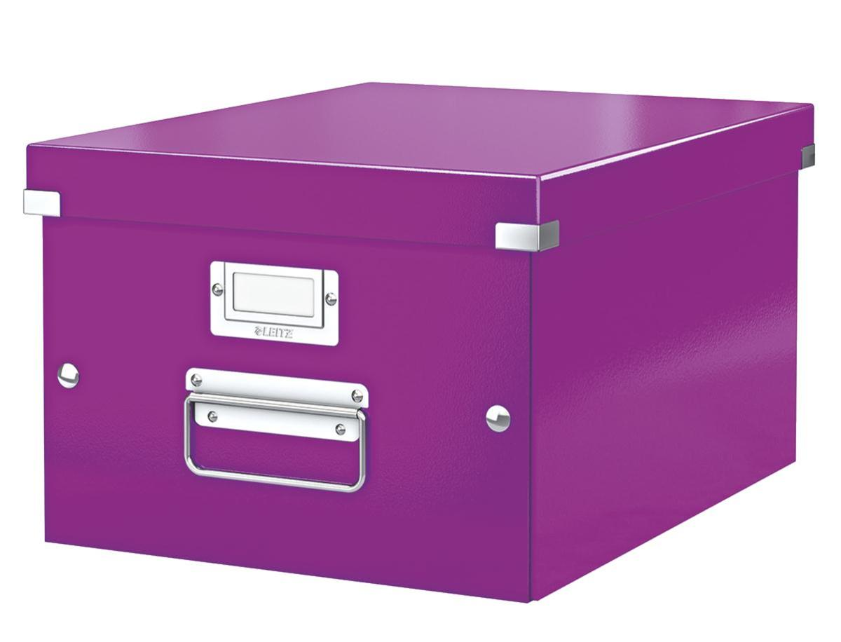 Image for Leitz WOW Click and Store Box Medium A4 Purple Ref 60440062