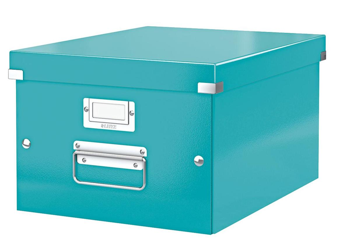 Image for Leitz WOW Click and Store Box Medium A4 Ice Blue Ref 60440051